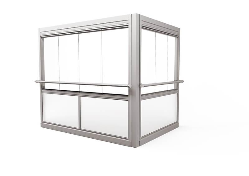 <span>Design Air</span> Innglassingssystem med store rammefrie luker.