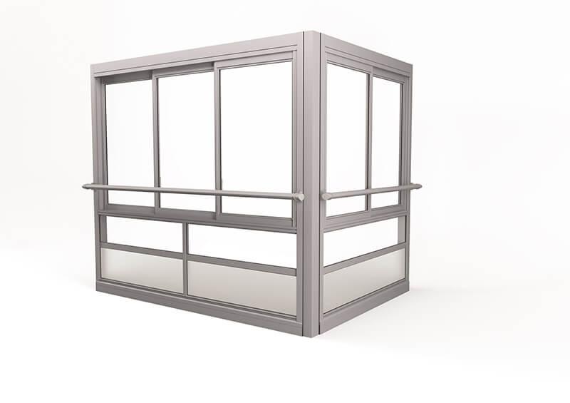 <span>Twin® Air</span> Innglassingssystem med store, innrammede luker.