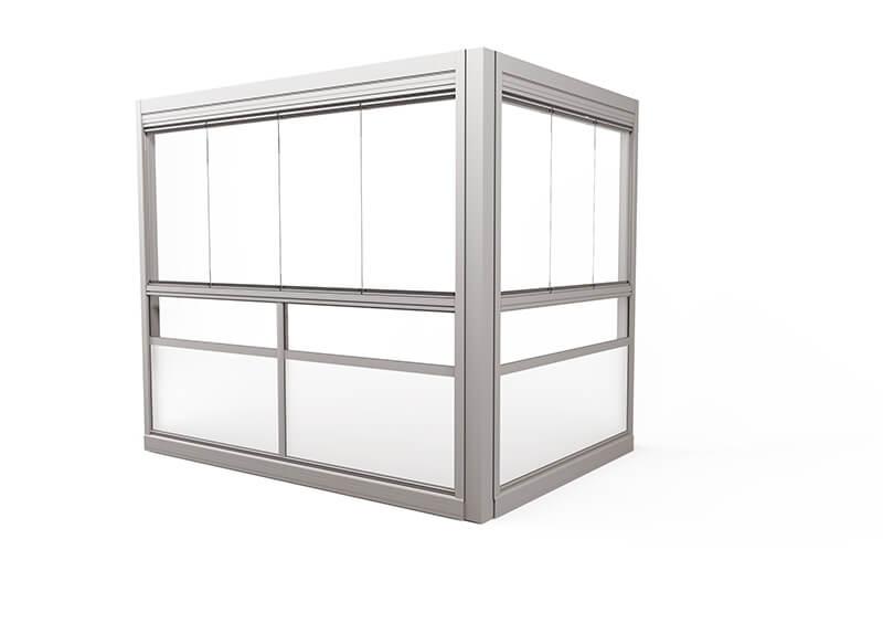 <span>Design Sight</span> Innglassingssystem med rammefrie luker.
