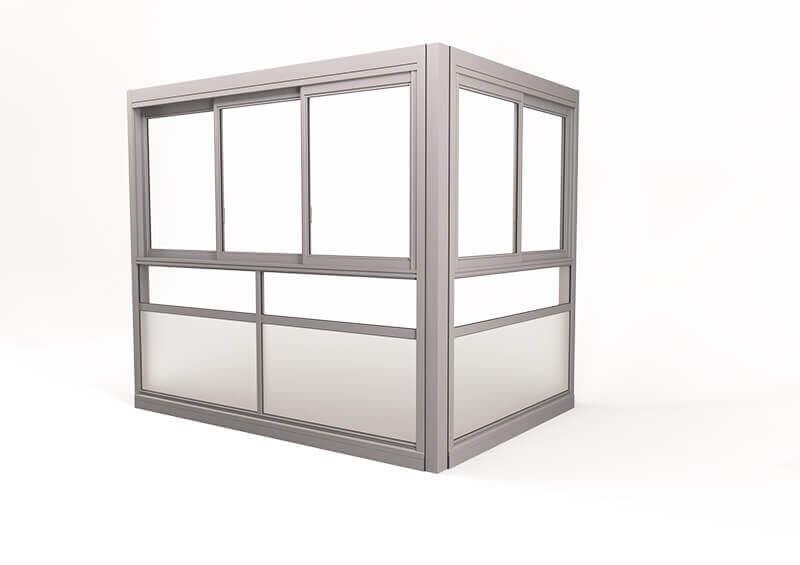 <span>Twin® Sight</span> Innglassingssystem med innrammede luker.