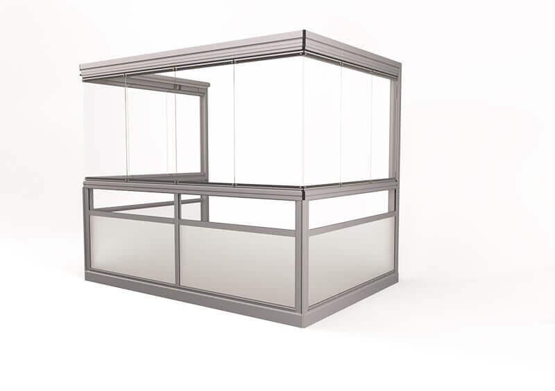 <span>Vision® Sight</span> Innglassingssystem med rammefrie luker, uten hjørnestolper.