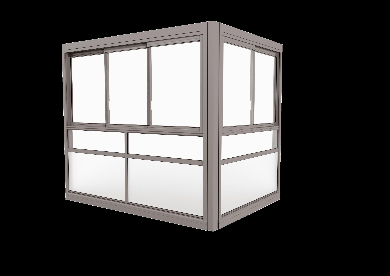 <span>TwinView™ Sight</span> Innglassingssystem med innrammede luker.